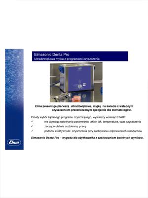 Broszura Elmasonic Denta Pro